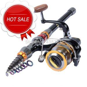 Carbon Fiber Telescopic Fishing Rod Portable