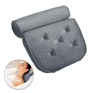 ESSORT Bathtub Pillow 4D Air Mesh Technology Comfort Pillow With 5 Suction